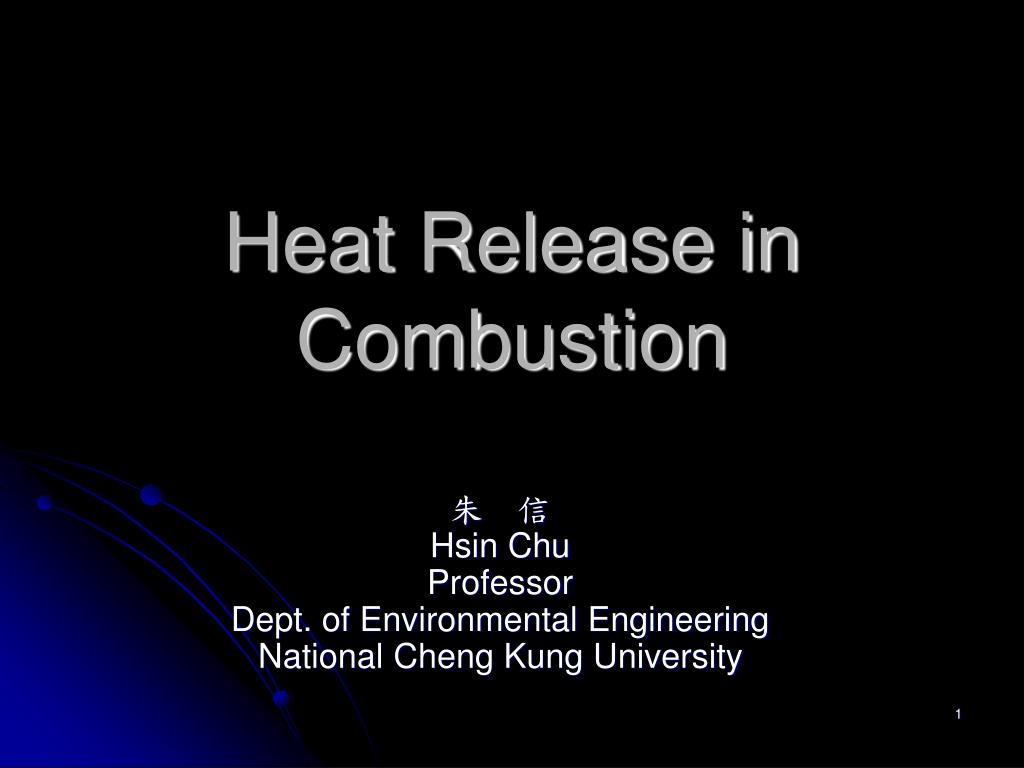 heat release in combustion l.