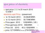 spot prices of electricity