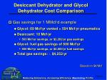 desiccant dehydrator and glycol dehydrator cost comparison