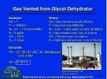 gas vented from glycol dehydrator