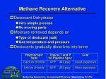 methane recovery alternative