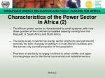 characteristics of the power sector in africa 2