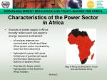 characteristics of the power sector in africa