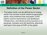 definition of the power sector