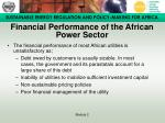 financial performance of the african power sector