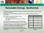 renewable energy geothermal