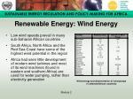 renewable energy wind energy