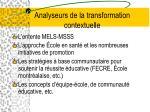 analyseurs de la transformation contextuelle