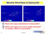 monthly wind rose of gainesville