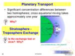 planetary transport