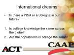 international dreams