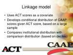 linkage model