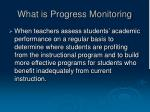 what is progress monitoring
