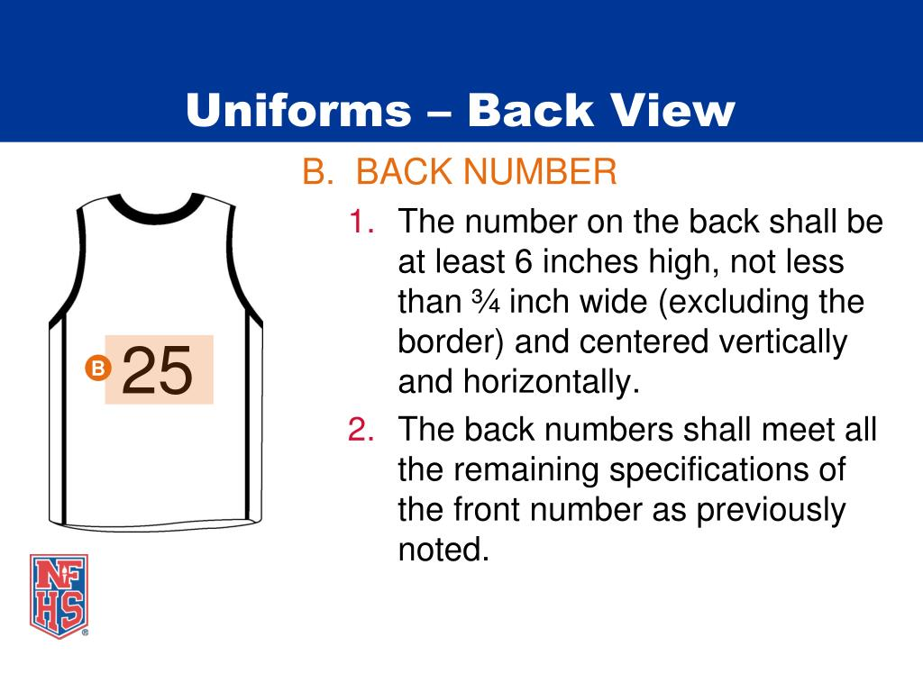 Uniforms – Back View