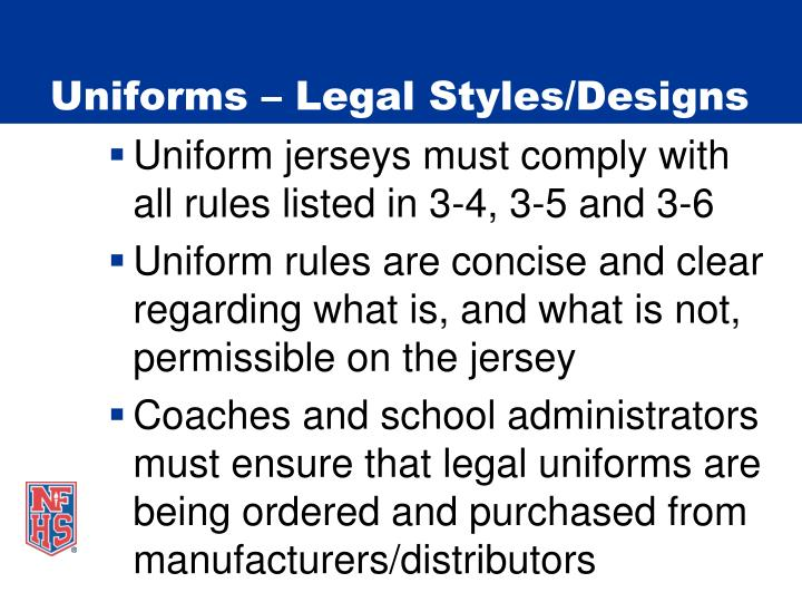 Uniforms legal styles designs