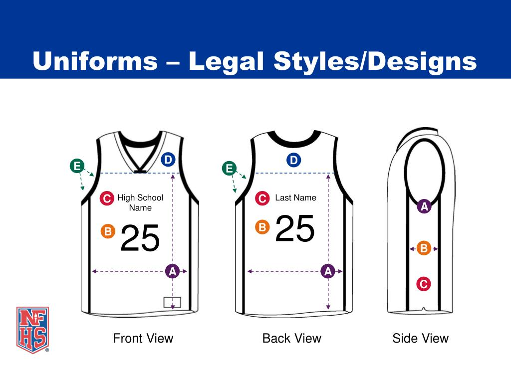 Uniforms – Legal Styles/Designs
