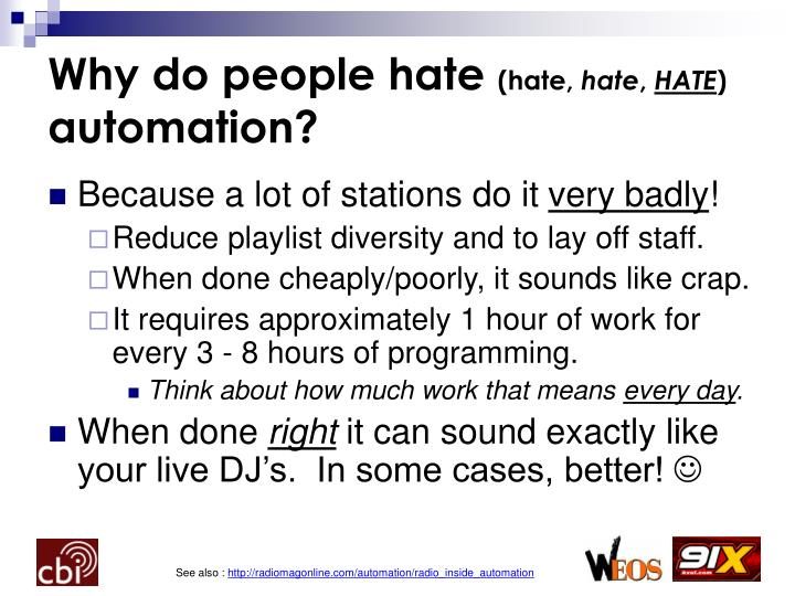 Why do people hate hate hate hate automation