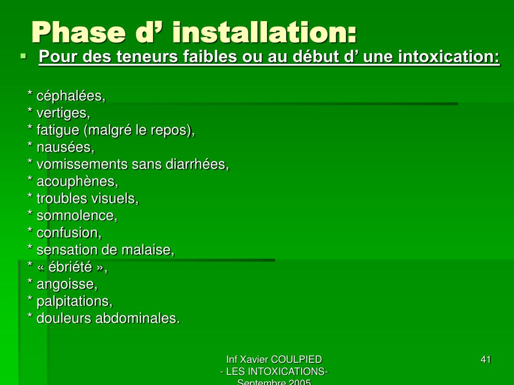 Phase d' installation: