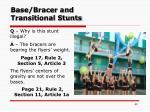 base bracer and transitional stunts