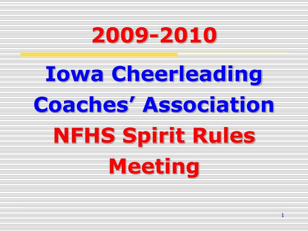 iowa cheerleading coaches association nfhs spirit rules meeting l.