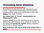 preventing rules violations