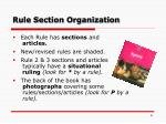 rule section organization