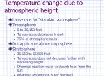 temperature change due to atmospheric height