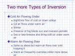 two more types of inversion