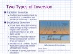 two types of inversion