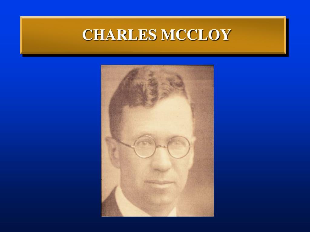 CHARLES MCCLOY