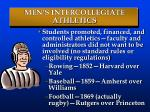 men s intercollegiate athletics