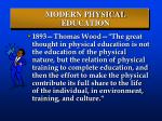 modern physical education