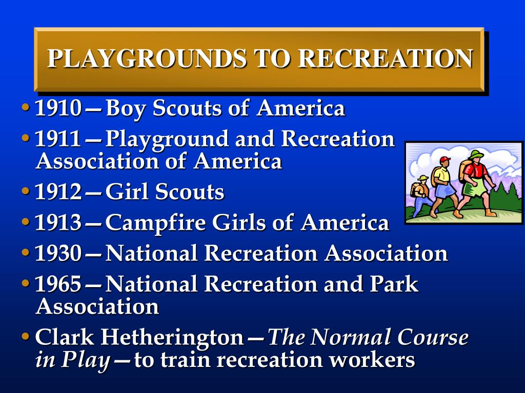 PLAYGROUNDS TO RECREATION