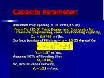 capacity parameter