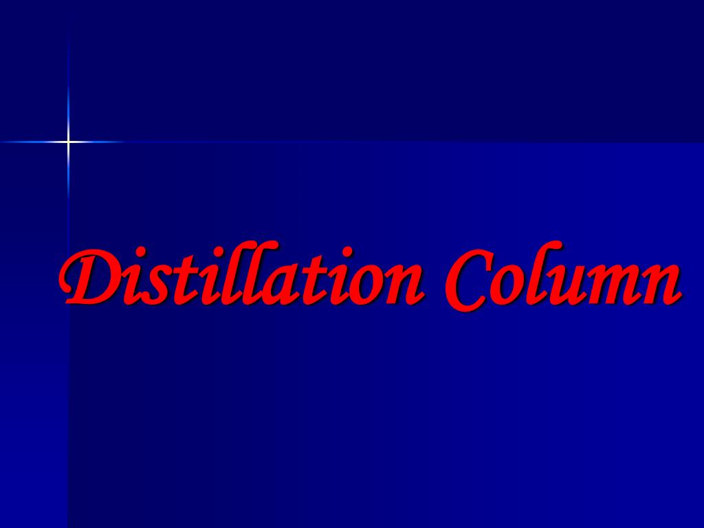 distillation column l.