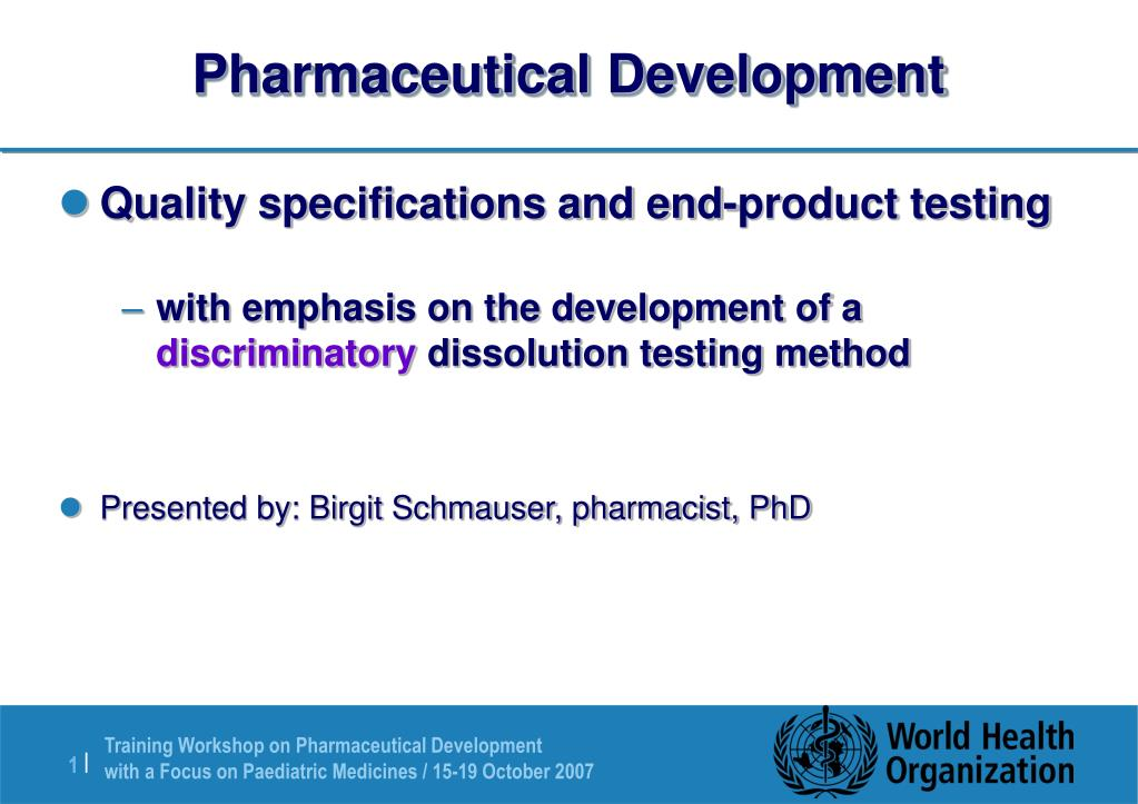 pharmaceutical development l.