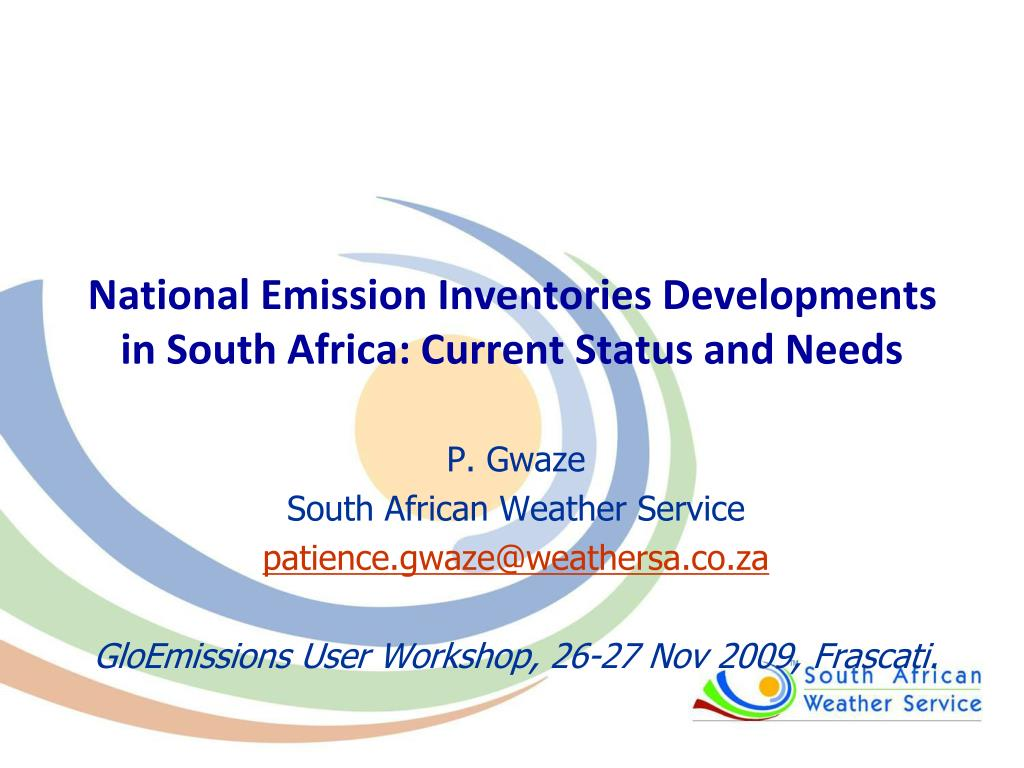national emission inventories developments in south africa current status and needs l.