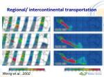 regional intercontinental transportation