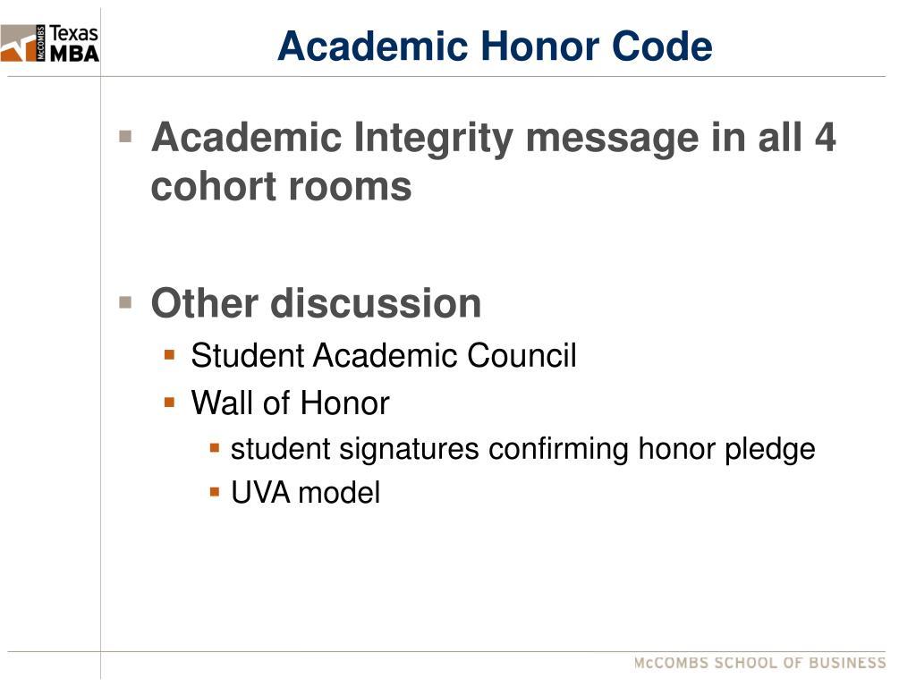 Academic Honor Code
