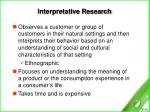interpretative research