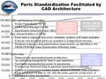 parts standardization facilitated by cad architecture