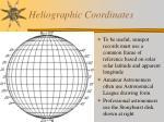 heliographic coordinates