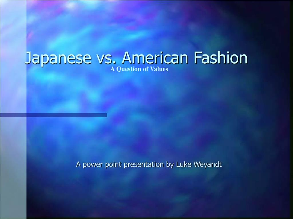 japanese vs american fashion l.