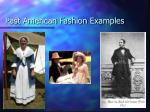 past american fashion examples