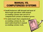 manual vs computerized systems