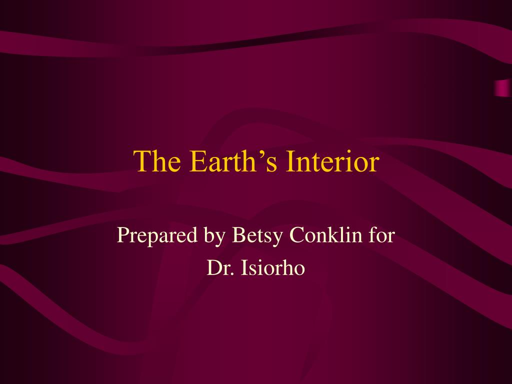 the earth s interior l.
