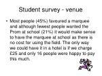 student survey venue