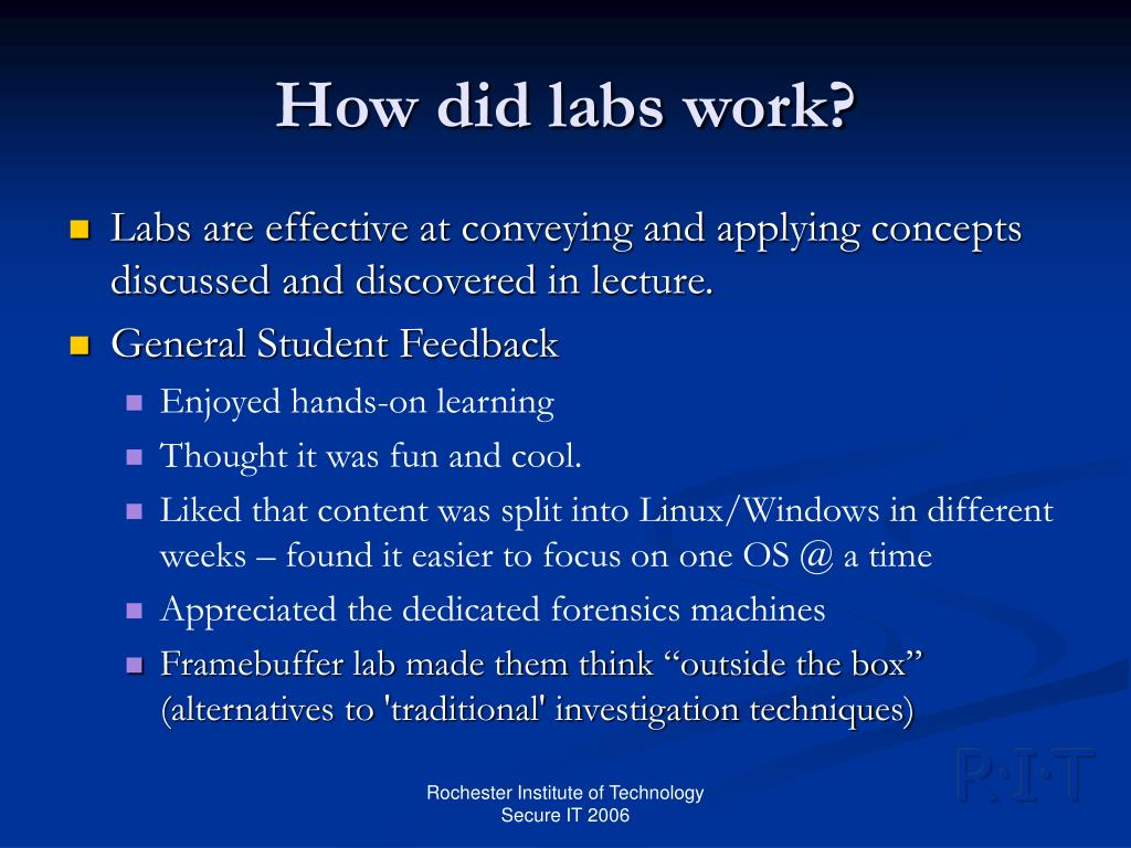 How did labs work?