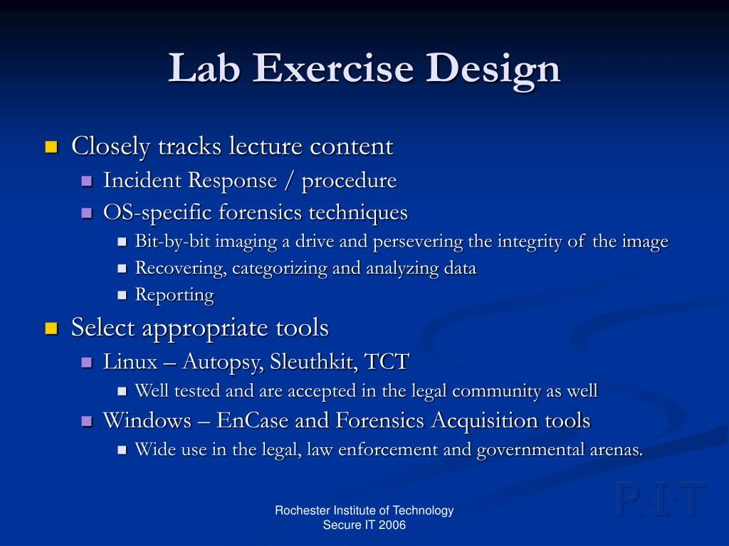 Lab Exercise Design