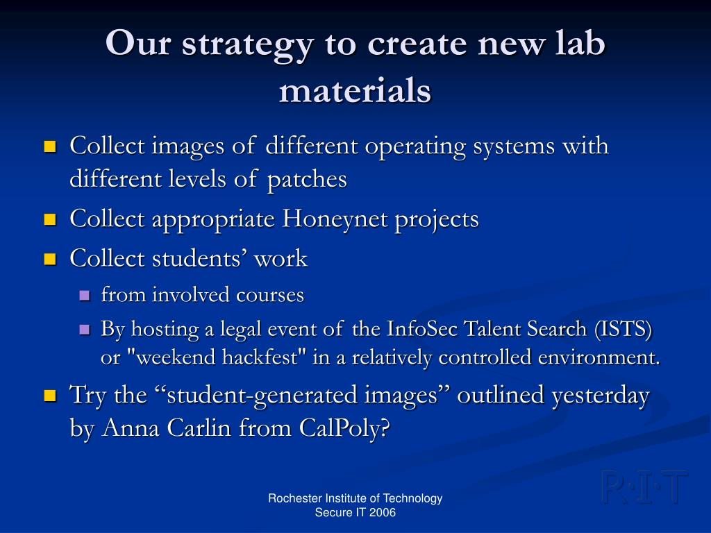 Our strategy to create new lab materials
